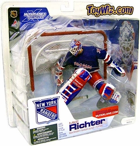McFarlane Toys NHL Sports Picks Series 4 Action Figure Mike Richter (New York Rangers) Blue Jersey Variant Damaged Package, Mint Contents!