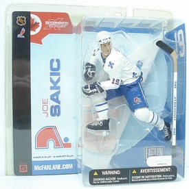 McFarlane Toys NHL Sports Picks Series 5 Action Figure Joe Sakic (Quebec Nordiques) White Jersey Variant BLOWOUT SALE!