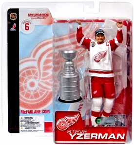 McFarlane Toys NHL Sports Picks Series 6 Action Figure Steve Yzerman (Detroit Red Wings) White Jersey with Goatee