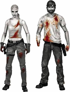 McFarlane Toys Walking Dead Comic Series 3 Exclusive Bloody Black & White Action Figure Set [Rick Grimes & Andrea] Pre-Order ships September