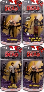 McFarlane Toys Walking Dead COMIC Series 3 Set of 4 Action Figures [Rick Grimes, Dwight, Andrea & Punk Zombie] Pre-Order ships July