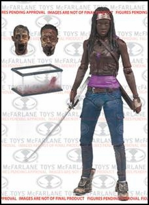 McFarlane Toys Walking Dead TV Series 6 Action Figure Michonne [Fish Tank & 2 Heads] Hot! Pre-Order ships November