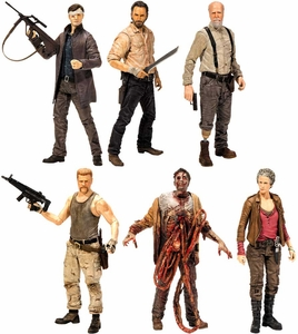 McFarlane Toys Walking Dead TV Series 6 Set of 6 Action Figures [Rick Grimes, Hershel Greene, Carol Peletier, Abraham Ford, Bungie Guts Zombie & Governor] MEGA Hot! Pre-Order ships November