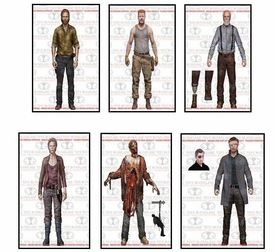 McFarlane Toys Walking Dead TV Series 6 Set of 6 Action Figures [Rick Grimes, Hershel Greene, Carol Peletier, Abraham Ford, Bungie Guts Zombie & Governor] Hot! Pre-Order ships October
