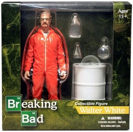 Mezco Toyz Breaking Bad Exclusive 6 Inch Action Figure Walter White [Vamonos Pest Orange Hazmat Suit]