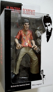 Mezco Toyz Scarface 10 Inch Roto Cast Action Figure The Runner {Random Facial Expression} [Hawaiin Shirt, WITH Blood]
