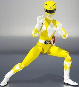 Mighty Morphin Power Rangers S.H. Figuarts Action Figure Yellow Ranger New!