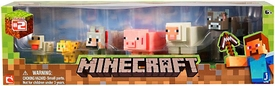 Minecraft Core Animal 6-Pack [Chicken, Ocelot, Tame Wolf, Pig, Sheep & Cow] New!