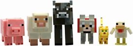 Minecraft Core Animal 6-Pack [Chicken, Ocelot, Tame Wolf, Pig, Sheep & Cow] Pre-Order ships March
