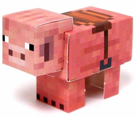 Minecraft Jazwares Papercraft Pig with Saddle