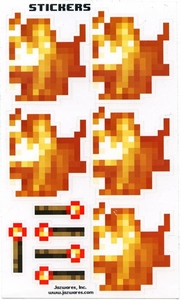 Minecraft Jazwares Papercraft Sticker Set [Fire & Torch]