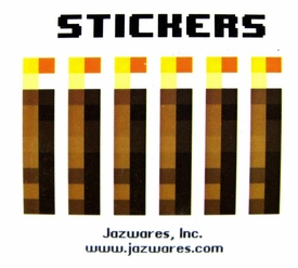Minecraft Jazwares Papercraft Sticker Set [X6 Torches]