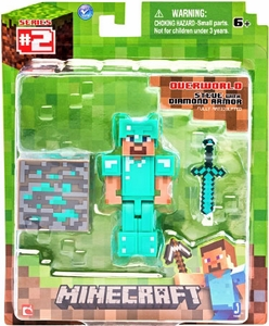 Minecraft Action Figure Diamond Armor Steve Hot!