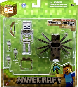 Minecraft Action Figure Spider Jockey Pack New MEGA Hot!