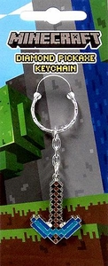 Minecraft Metal Diamond Pickaxe Keychain