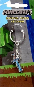 Minecraft Metal Diamond Sword Keychain