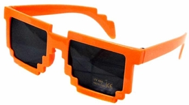 Minecraft Pixelated Sunglasses [Orange]