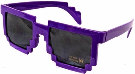 Minecraft Pixelated Sunglasses [Purple] New!