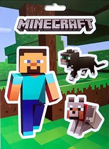 Minecraft Sticker Pack Steve Pets
