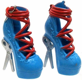 Monster High 10.5 Inch Scale LOOSE Doll Accessory Closed-Toe Platform Shoes with Stitch Details & Scissor Heels