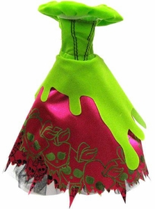 Monster High 10.5 Inch Scale LOOSE Doll Accessory Green Off-Shoulder Dress with Princess-Style Bodice