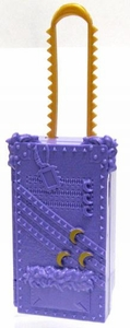 Monster High 10.5 Inch Scale LOOSE Doll Accessory Lavender Suitcase with Gold Handle & Accents