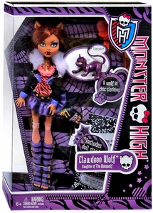Monster High Deluxe Doll Clawdeen Wolf with Pet Cat Crescent [Doll Stand & Diary]