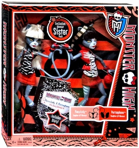 Monster High Exclusive Doll 2-Pack Gift Set WereCAT Sister Pack  [Meowlody & Purrsephone]