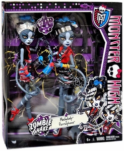 Monster High Zombie Shake Meowlody and Purrsephone Doll