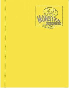 Monster Protectors Card Supplies 4-Pocket Yellow Mini Binder