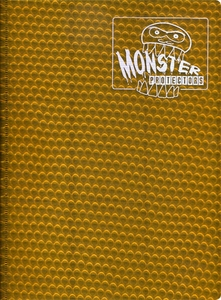 Monster Protectors Card Supplies 9-Pocket Gold Binder