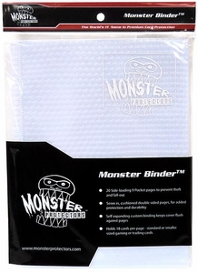 Monster Protectors Card Supplies 9-Pocket White Binder