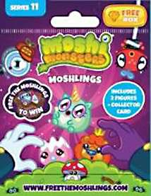 Moshi Monsters Free the Moshlings Series 11 Mini Figure 2-Pack [Includes 1 Free Rox Secret Code!] New!