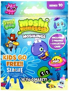 Moshi Monsters Moshlings Series 10 Mini Figure 2-Pack [Includes 1 Free Rox Secret Code!]