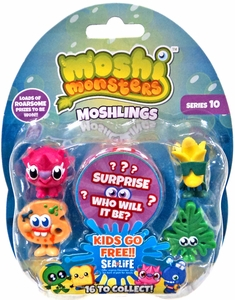 Moshi Monsters Moshlings Series 10 Mini Figure 5-Pack [Includes 1 Free Rox Secret Code!]