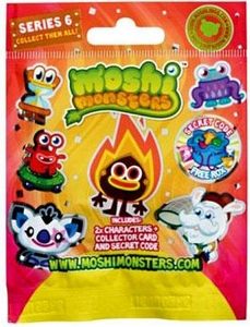 Moshi Monsters Moshlings Series 6 Mini Figure 2-Pack [Includes 1 Virtual Prize Code!]