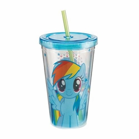 My Little Pony 18 oz. Acrylic Travel Cup Rainbow Dash New!