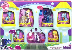 My Little Pony Exclusive Midnight in Canterlot Pony Collection [Princess Celestia, Nightmare Moon, Rainbow Dash, Rarity, Spike, Fluttershy, Minty & Dewdrop Dazzle]