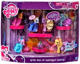 My Little Pony Exclusive Set Royal Ball at Canterlot Castle [Twilight Sparkle, Pinkie Pie, Rainbow Dash, Fluttershy, Applejack, Rarity & Spike the Dragon]