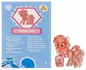 My Little Pony Friendship is Magic 2 Inch PVC Figure Series 3 Glitter Crimson Gala [Blue Card]