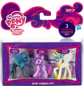 My Little Pony Friendship is Magic Royal Surprise 3-Pack Queen Chrysalis, Princess Celestia & Twilight Sparkle