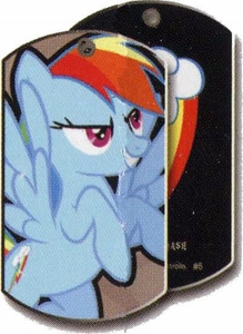 My Little Pony Friendship is Magic Single Dog Tag #6 Rainbow Dash