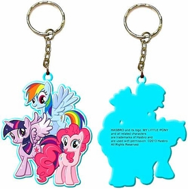 My Little Pony Keychain Pony Group [Rainbow Dash, Twilight Sparkle & Pinkie Pie]