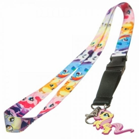 My Little Pony Mane 6 Lanyard with Fluttershy Rubber Charm