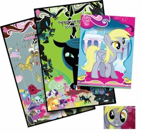 My Little Pony NYCC EXCLUSIVE Set D Foil Poster, Discord Poster, Queen Chrysalis Poster & Derpy Foil Card #F41 DAMAGED POSTER!