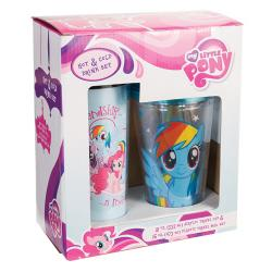 My Little Pony Plastic Travel Mug & 18 oz. Acrylic Cup Set New!