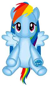 My Little Pony Plush Backpack Rainbow Dash Pre-Order ships July