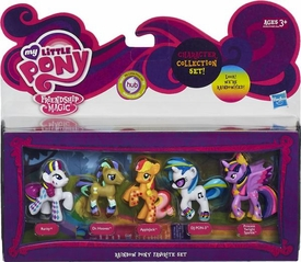 My Little Pony Rainbow Pony Favorite 5-Pack Rarity, Dr. Hooves, Applejack, DJ PON-3 & Princess Twilight Sparkle