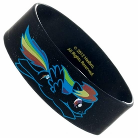 My Little Pony Rubber Wristband Rainbow Dash Brony [Black]