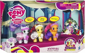 My Little Pony Wedding Playset Wedding Flower Fillies [Sweetie Belle, Apple Bloom & Scootaloo] (Damaged Packging)